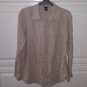 Men's GAP 100% linen dress shirt
